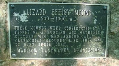 Lizard Effigy Mound Marker image. Click for full size.
