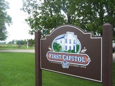 Belmont, Wisconsin Territorial Capitol Signage Photo, Click for full size