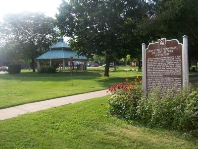 City Hall Park, location of Main Street Commercial Historic District Platteville Marker image. Click for full size.
