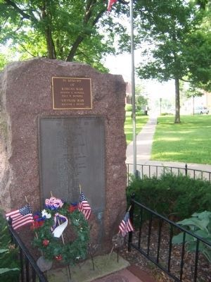 Memorial Marker in City Hall Park, Platteville image. Click for full size.