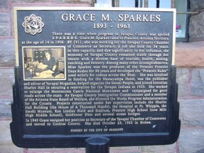 Grace M. Sparkes Marker image. Click for full size.