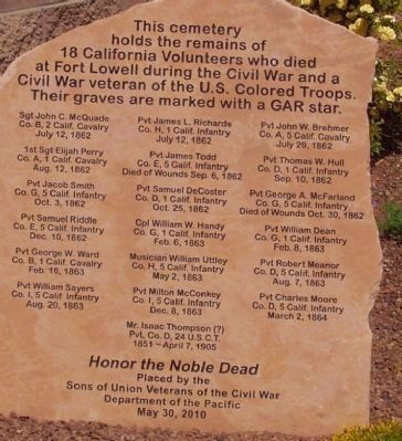 Union Soldiers Buried in Historic Cemetery Marker image. Click for full size.