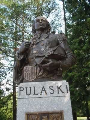 Closeup of Pulaski Bust image. Click for full size.