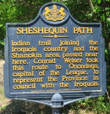 Sheshequin Path Marker image. Click for full size.
