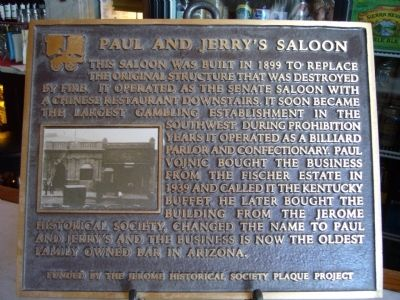 Paul and Jerry's Saloon Marker image. Click for full size.