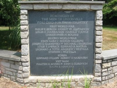 Unionville Veterans Monument image. Click for full size.