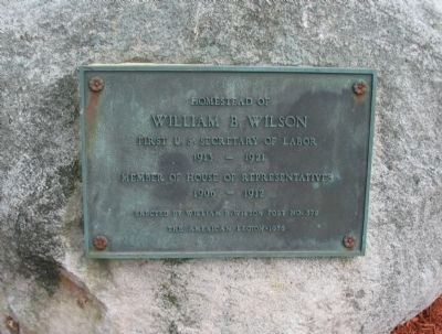 William B. Wilson Marker image. Click for full size.