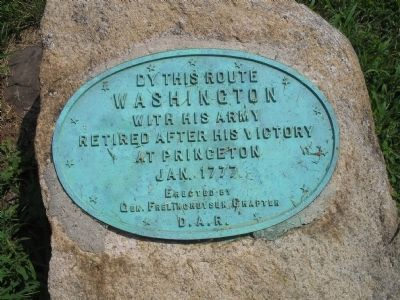 Washington�s Route from Princeton to Morristown Marker image. Click for full size.