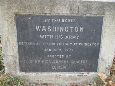 Washington's Route from Princeton Marker image. Click for full size.