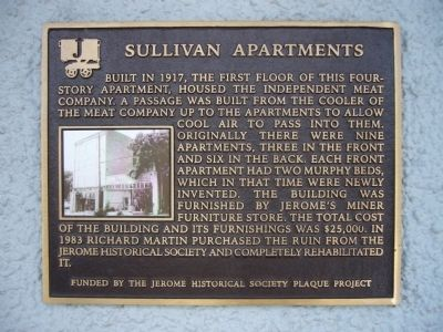 Sullivan Apartments Marker image. Click for full size.