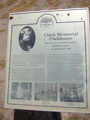 Clark Memorial Clubhouse Marker image. Click for full size.