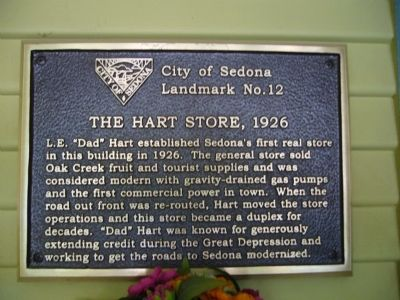 The Hart Store, 1926 Marker image. Click for full size.