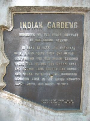Indian Gardens Marker image. Click for full size.