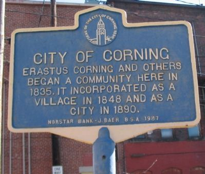 City of Corning Marker image. Click for full size.