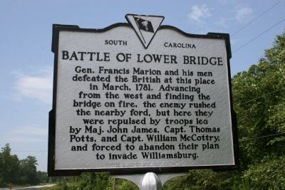 Battle Of Lower Bridge Marker image. Click for full size.