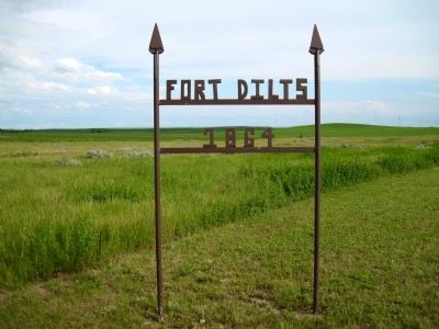 Entrance to Fort Dilts Photo, Click for full size