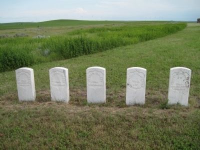 Headstones of Five Other Soldiers Killed During the Siege Photo, Click for full size