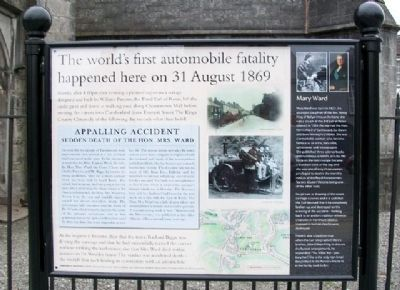 The world's first automobile fatality Marker image. Click for full size.