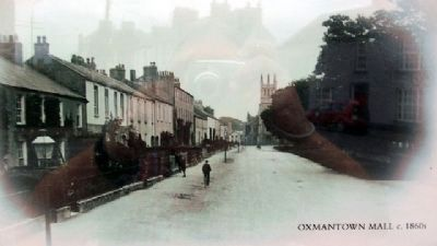 """Oxmantown Mall, c.1860s"" Photo on Marker image. Click for full size."