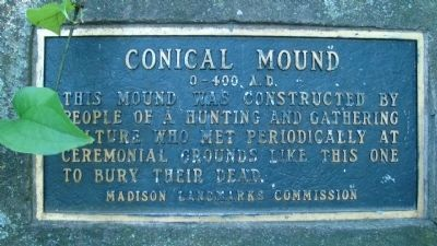 Conical Mound Marker Photo, Click for full size