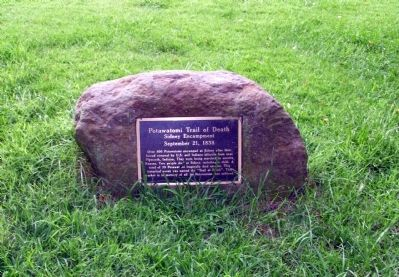 Full View - - Potawatomi Trail of Death Marker image. Click for full size.