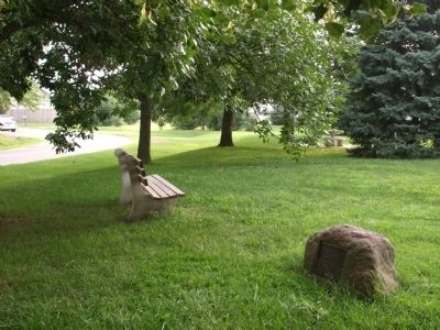 Looking North/East - - Potawatomi Trail of Death Marker image. Click for full size.