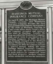Hastings Mutual Insurance Company Marker image. Click for full size.