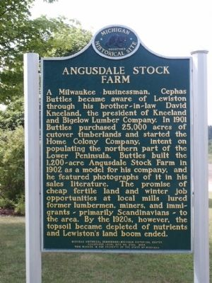 Angusdale Stock Farm Marker Photo, Click for full size