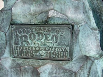 100 Years of Rodeo Monument Photo, Click for full size
