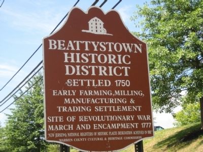 Beattystown Historic District Marker image. Click for full size.