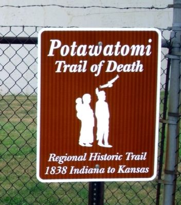 Trail of Death - Sign image. Click for full size.