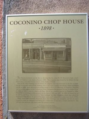 Coconino Chop House Marker Photo, Click for full size