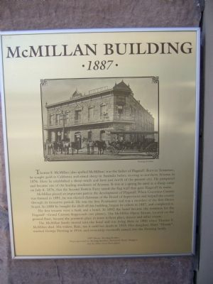 McMillan Building Marker Photo, Click for full size