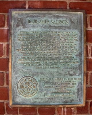 Old Ship Saloon Marker image. Click for full size.