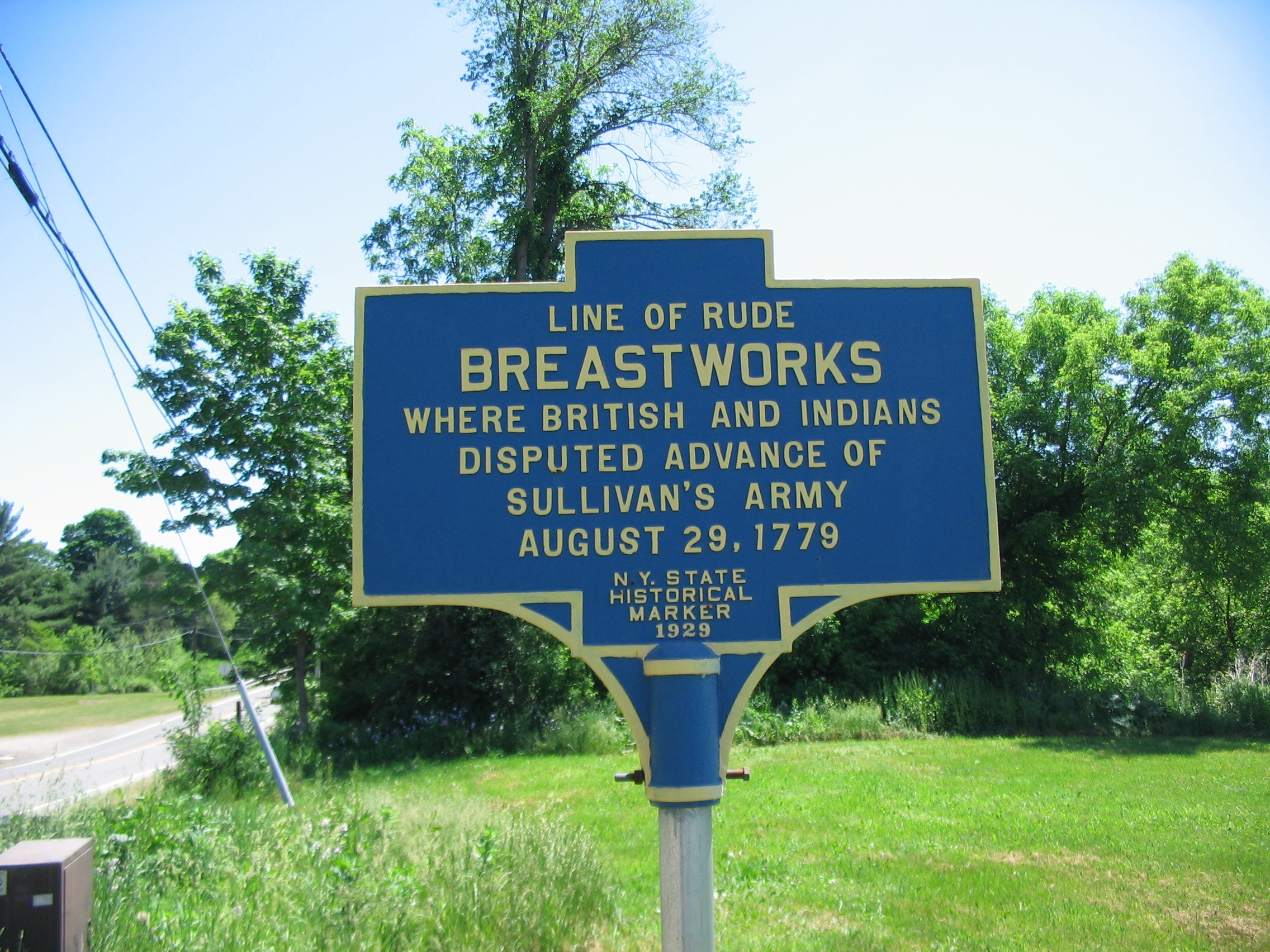 Line of Rude Breastworks Marker
