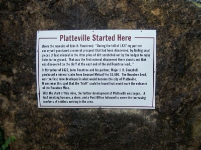 Platteville Started Here Marker image. Click for full size.