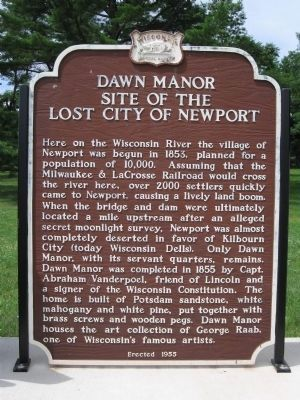 Dawn Manor Marker Photo, Click for full size