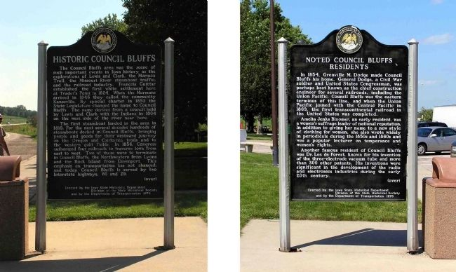Historic Council Bluffs / Noted Council Bluffs Residents Marker image. Click for full size.