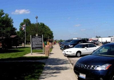 Wide view of the Historic Council Bluffs / Noted Council Bluffs Residents Marker image. Click for full size.