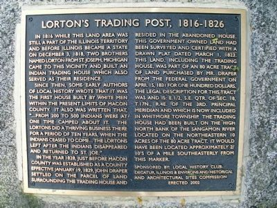 Lorton's Trading Post Marker image. Click for full size.
