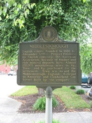 Middlesborough Marker image. Click for full size.