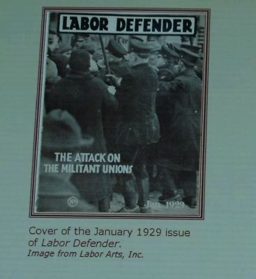 Cover of the 1929 issue of Labor Defender. image. Click for full size.