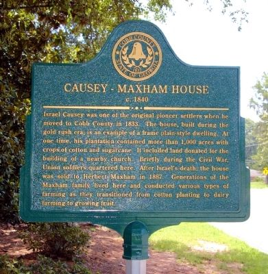 Causey - Maxham House Marker image. Click for full size.