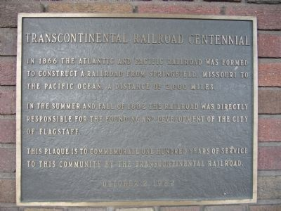 Transcontinental Railroad Centennial Marker image. Click for full size.