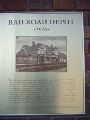 Railroad Depot Marker Photo, Click for full size