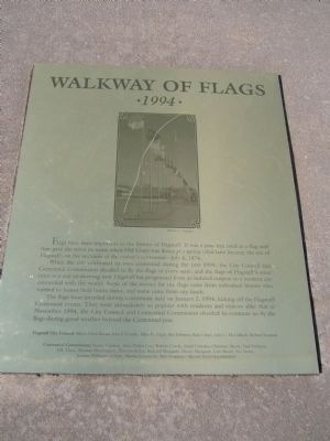 Walkway of Flags Marker image. Click for full size.