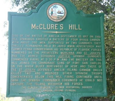 McClure's Hill Marker image. Click for full size.