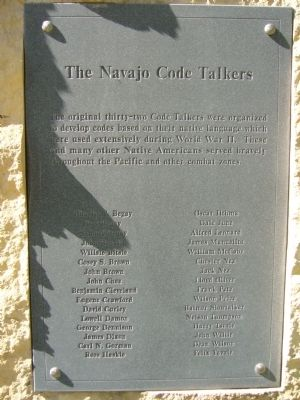 The Navajo Code Talkers Marker image. Click for full size.