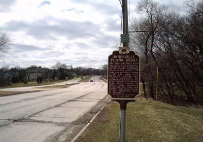 Janesville Plank Road Marker image. Click for full size.