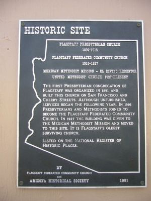 Flagstaff Presbyterian Church Marker image. Click for full size.